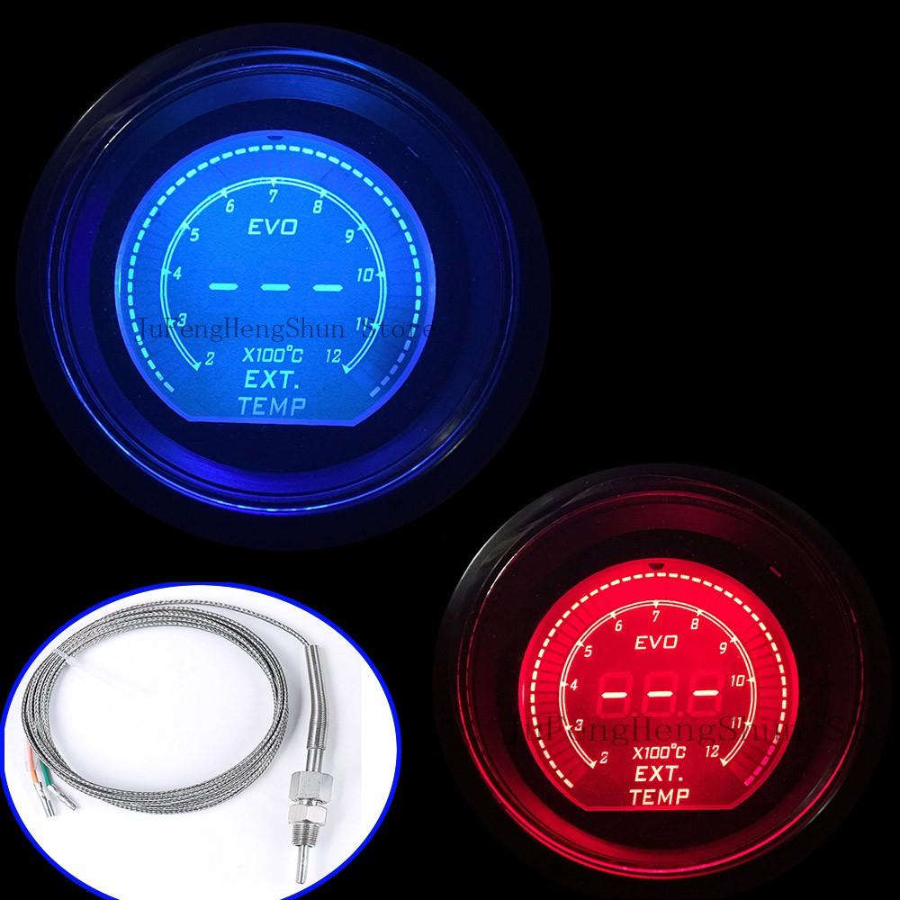 52mm Evo Car Exhaust Gas Temperature Gauge Celsius Digital