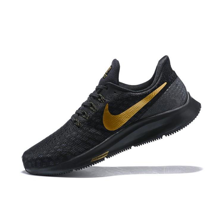 best service 215a4 b07ad Original NIKE AIR ZOOM PEGASUS 35 Men Sports Running Shoes BLACK/GOLD