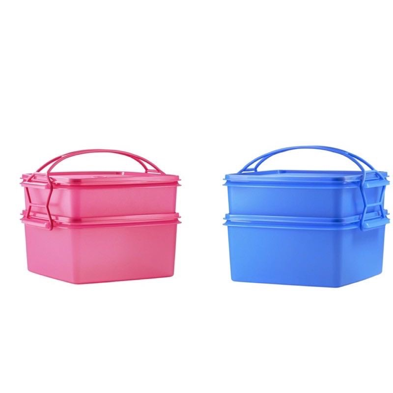 Tupperware Jumbo Goody Box  with Cariolier (2pcs) 4L+2L - Pink or Blue
