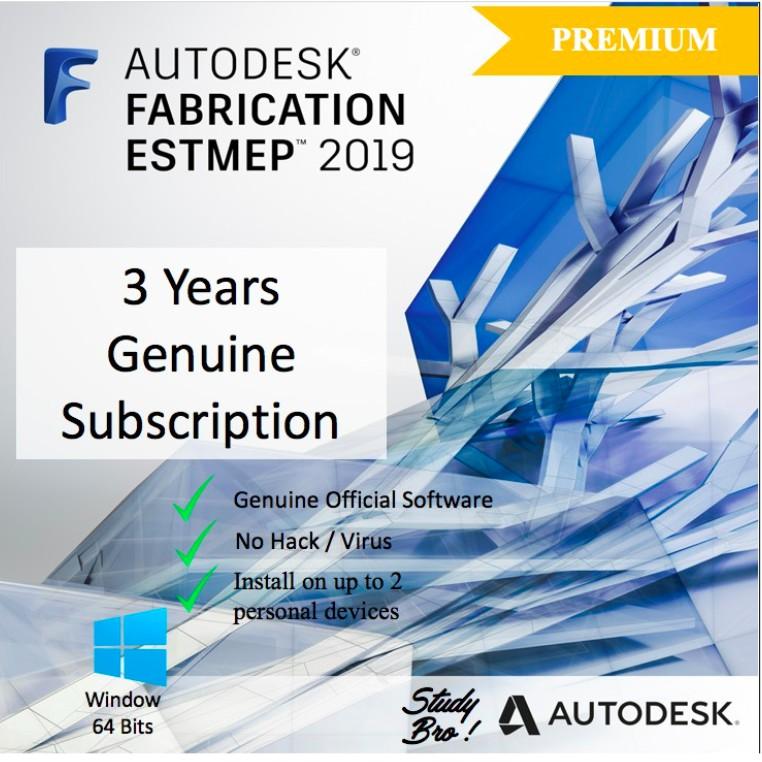 [Genuine] Autodesk Fabrication ESTmep 2019 3 Years License [Windows 64-bit]  Edu
