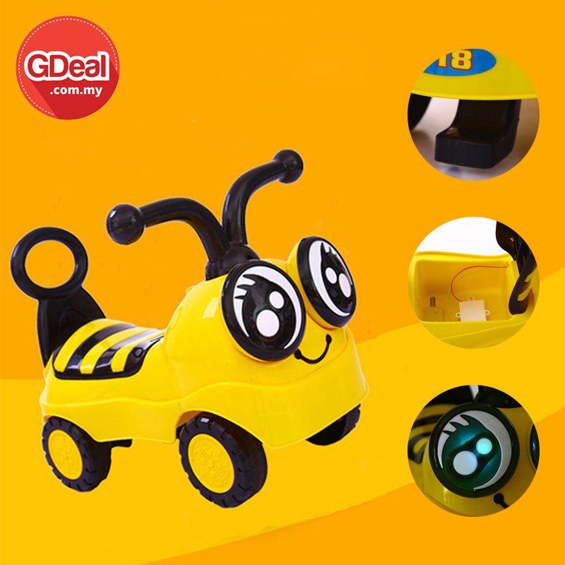 GDeal Children Mini Riding Vehicle Kids Little Bee Scooter With Music Lighting Design