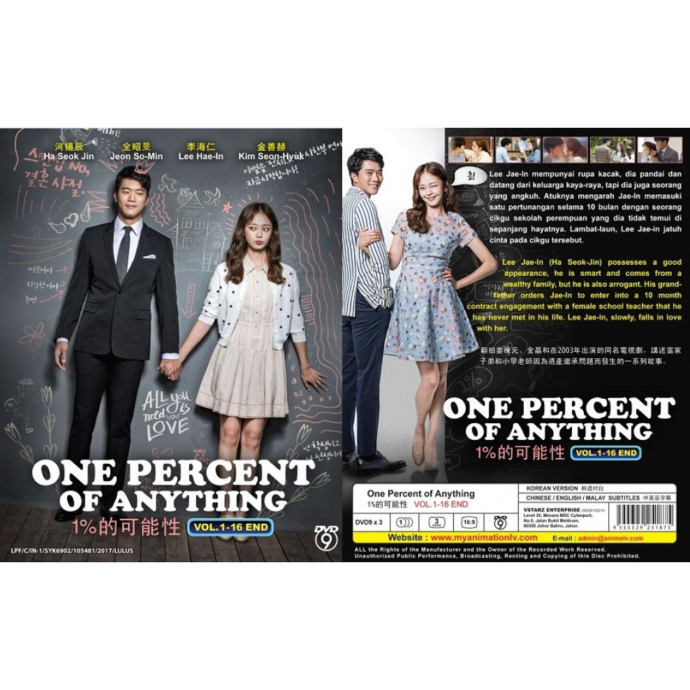 KOREAN DRAMA ~ One Percent Of Anything(1-16End)