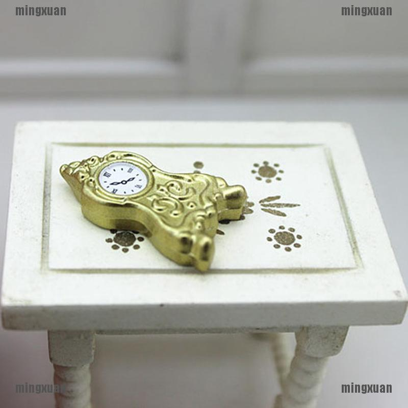 1:12 Miniature pendulum clock dollhouse diy doll house decor accessories