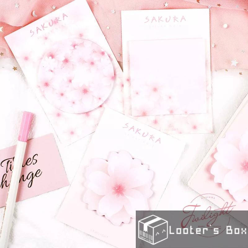7a35aefd4112 Sakura Japanese Cherry Blossom Pink Sticky Note (G)