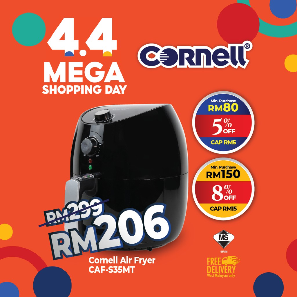 Cornell Air Fryer with Detachable Frying Basket (3.6L) CAF-S35MT