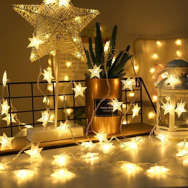 Net Red Star Lights String Lights Bedroom