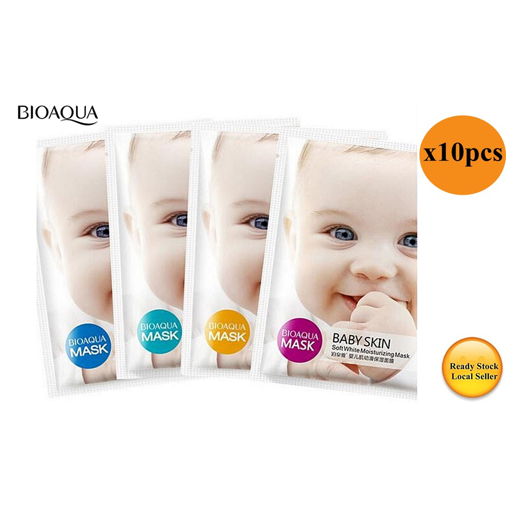 10pcs Bioaqua Fresh Moisturizing Baby Mask Moisturizing Whitening Moisturizing Oil Control Moisturizing Tablet Mask Facial Care Treatments & Masks Face