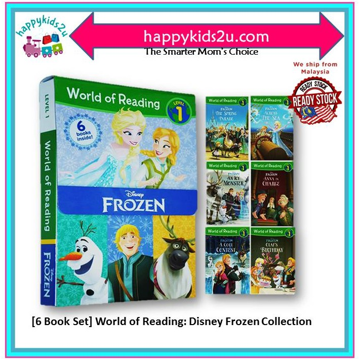 Disney Frozen Story Books Collections (6 Books Set) Level 1 with FREE GIFT