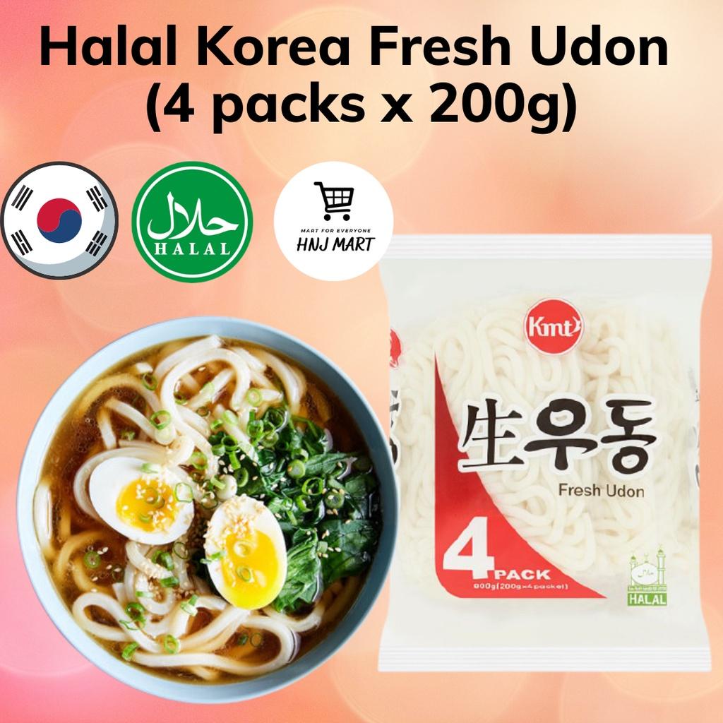 Halal Korea Fresh Udon Noodle by KMT 乌冬面