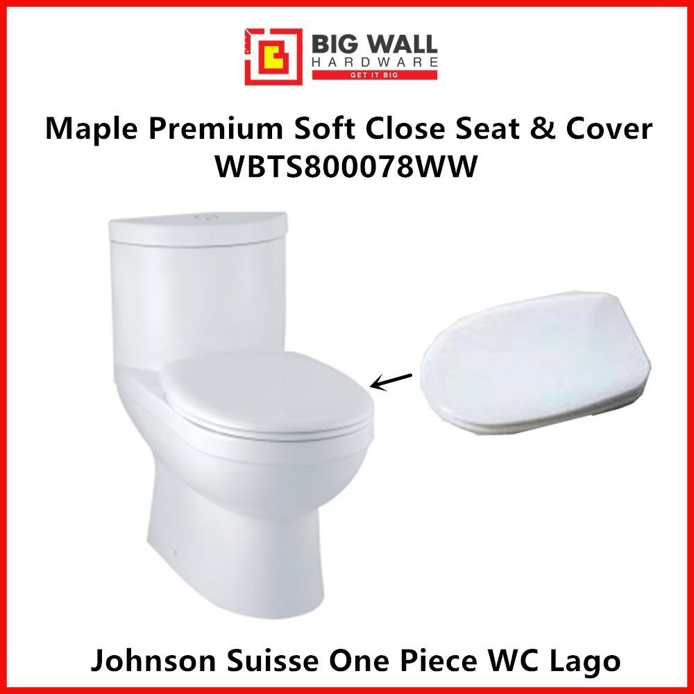 Johnson Suisse LAGO CELICO Heavy Duty Maple Soft Close Toilet Seat & Cover  Penutup Tandas SAJE  (Big Wall Hardware)