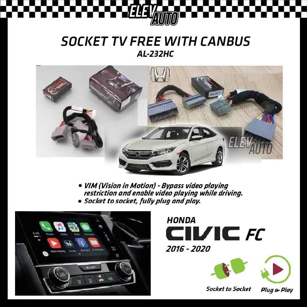 Honda Civic 2016-2021 Socket TV Free (Bypass VIM) With Canbus Anson AL-232HC