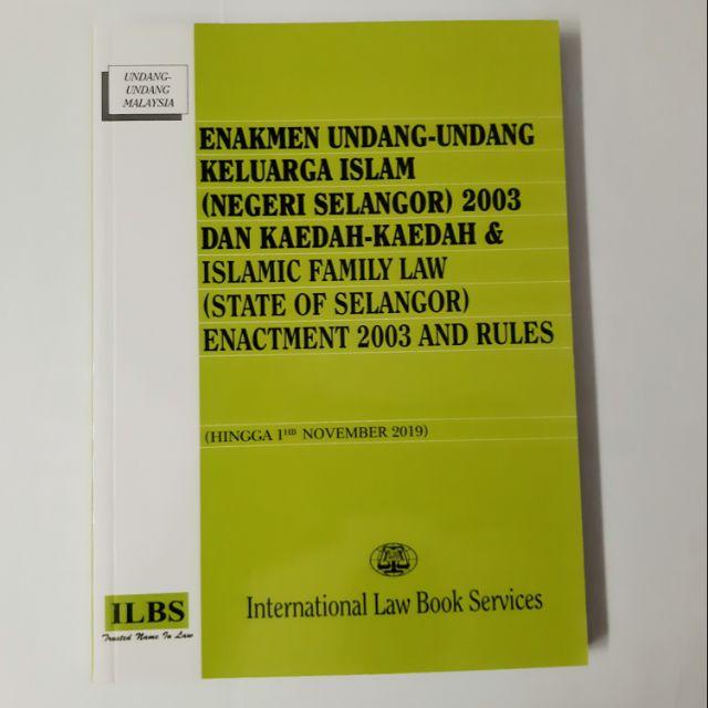 Enakmen Undang Undang Keluarga Islam Negeri Selangor 2003 Dan Kaedah Kaedah Shopee Malaysia