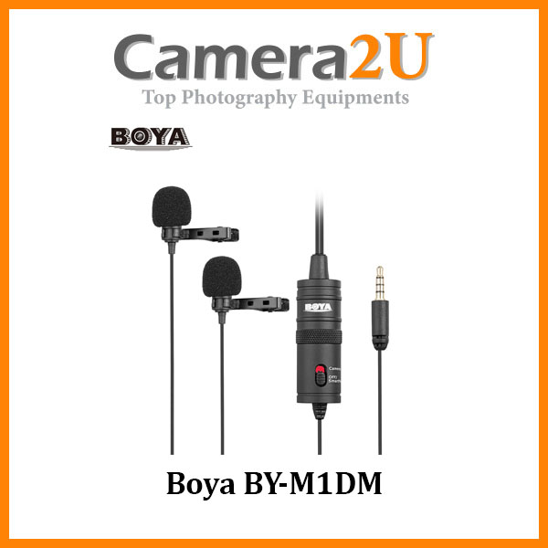 READY STOCK Boya BY-M1DM Dual Lavalier Microphone Omnidirectional Mic BYM1DM