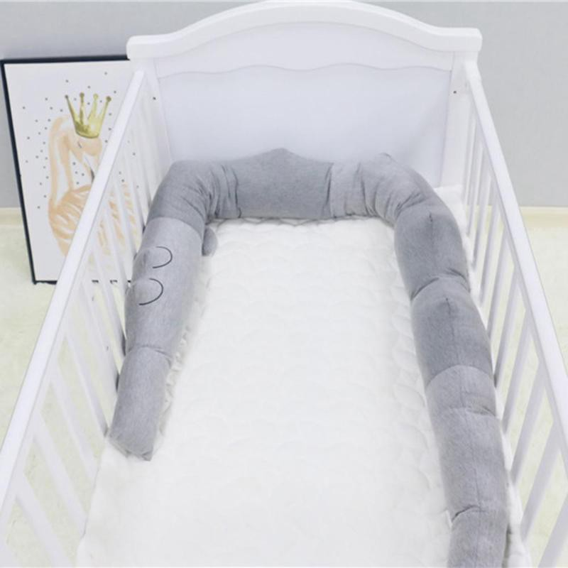 185CM Baby Cot Cushion Bumper Crocodile Style Children Pillow Baby Fence Blanket