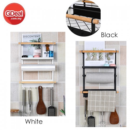 GDeal Refrigerator Storage Wallpaper Rack Towel Side Hanging Rack