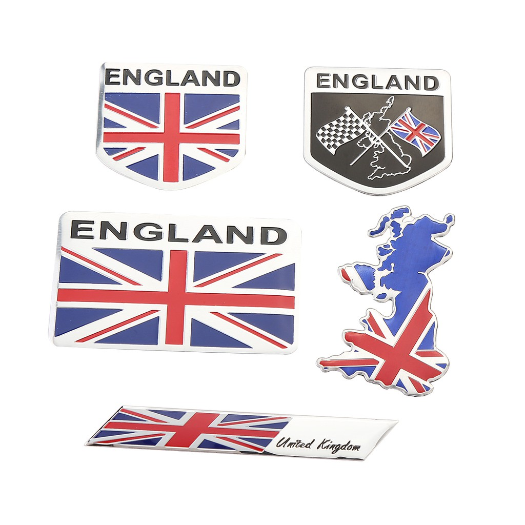 2X Auto Door Body Badge England Great Britain Flag Emblem 3D Sticker Decal Trim