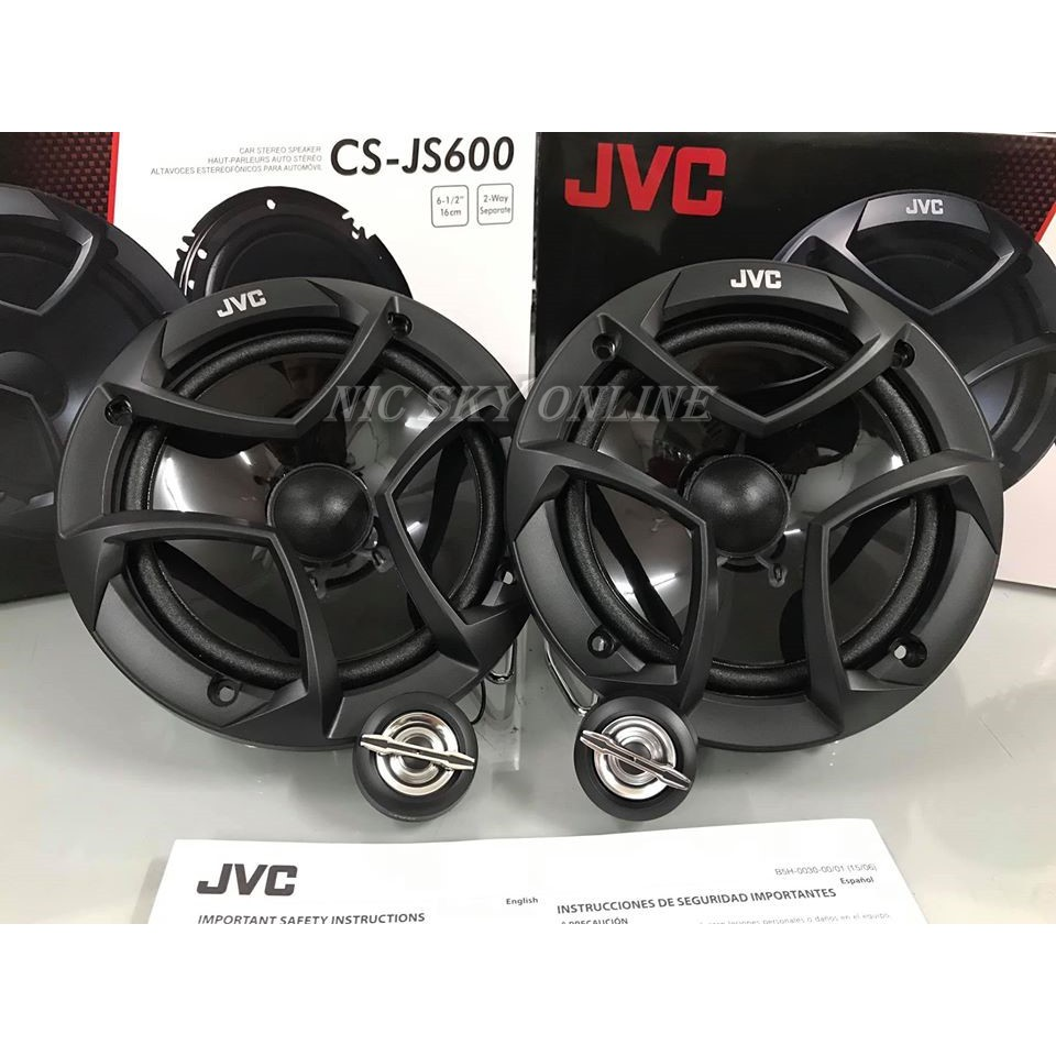 ORIGINAL JVC Speakers CS-JS600 2-Way Component SET Speakers