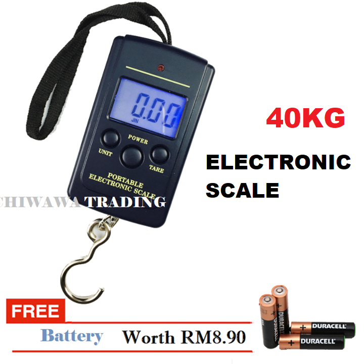 40kg/10g Electronic Digital Pocket Luggage Weight Scale with LCD Digital