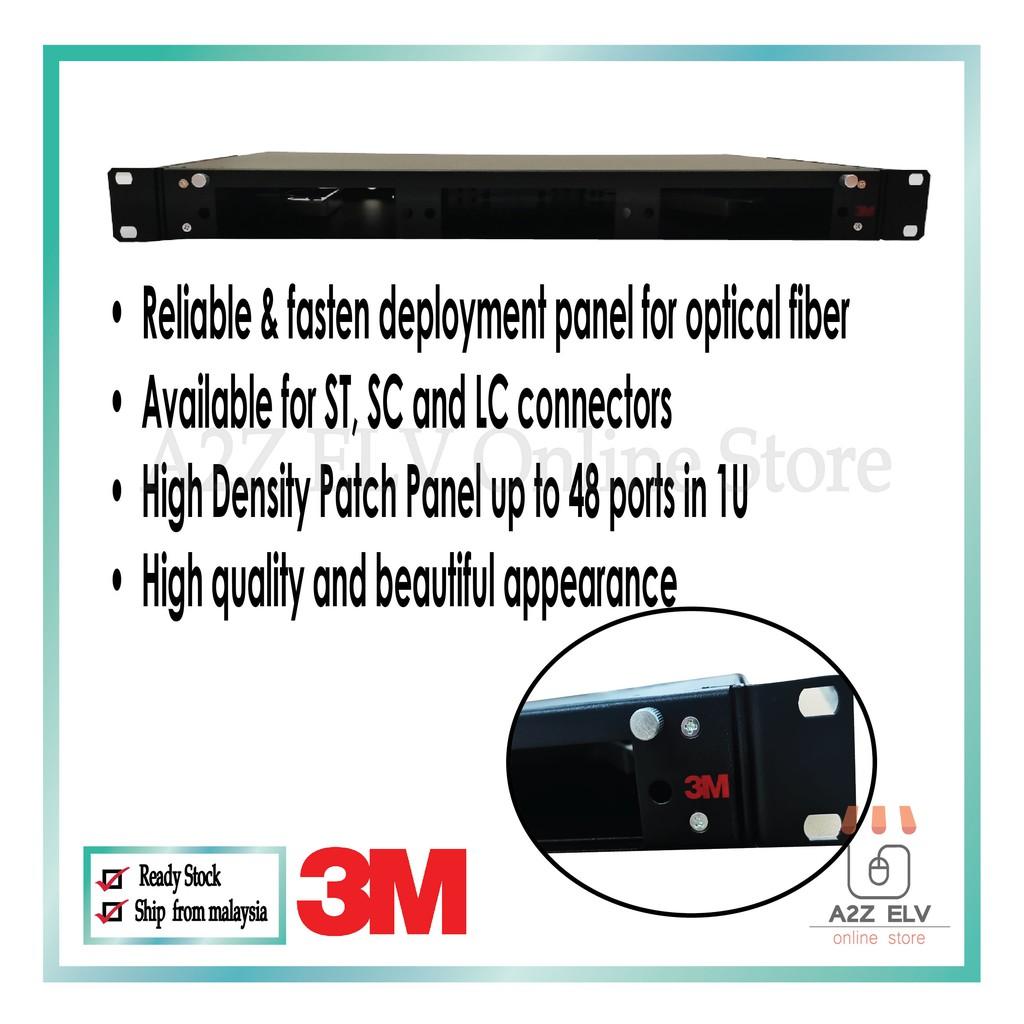 3M PFG Volition Fiber Patch Panel 18/36 Ports 1U