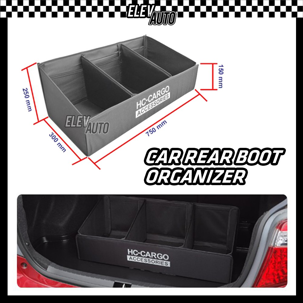 Universal Trunk Car Rear Boot Organizer Storage Compartment For All Vehicle Model