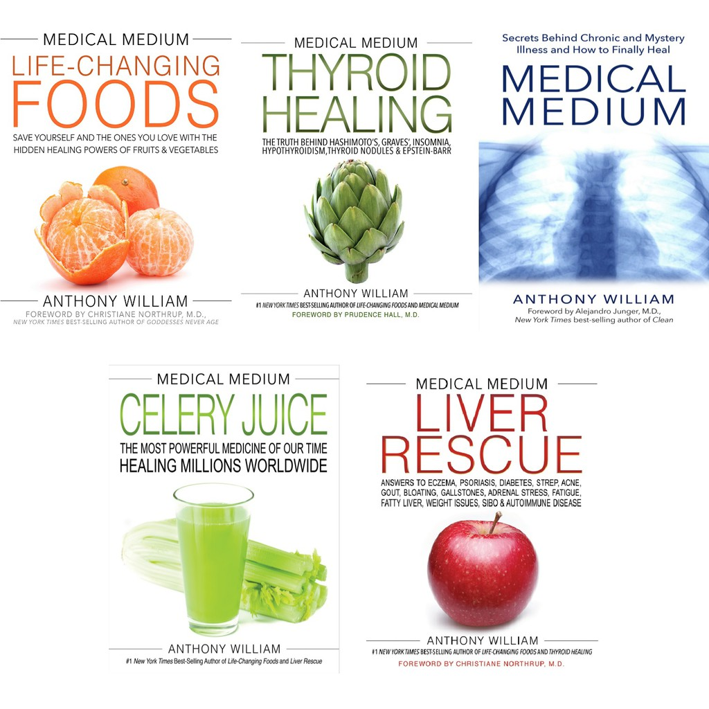 EBOOK Medical Medium Series by Anthony William Total of 5 eBooks