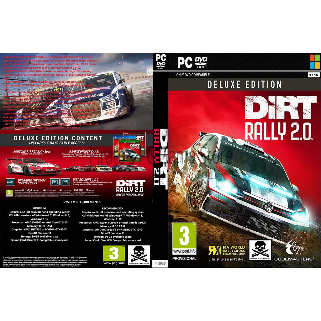 pc dirt rally 2 0 deluxe edition shopee malaysia. Black Bedroom Furniture Sets. Home Design Ideas