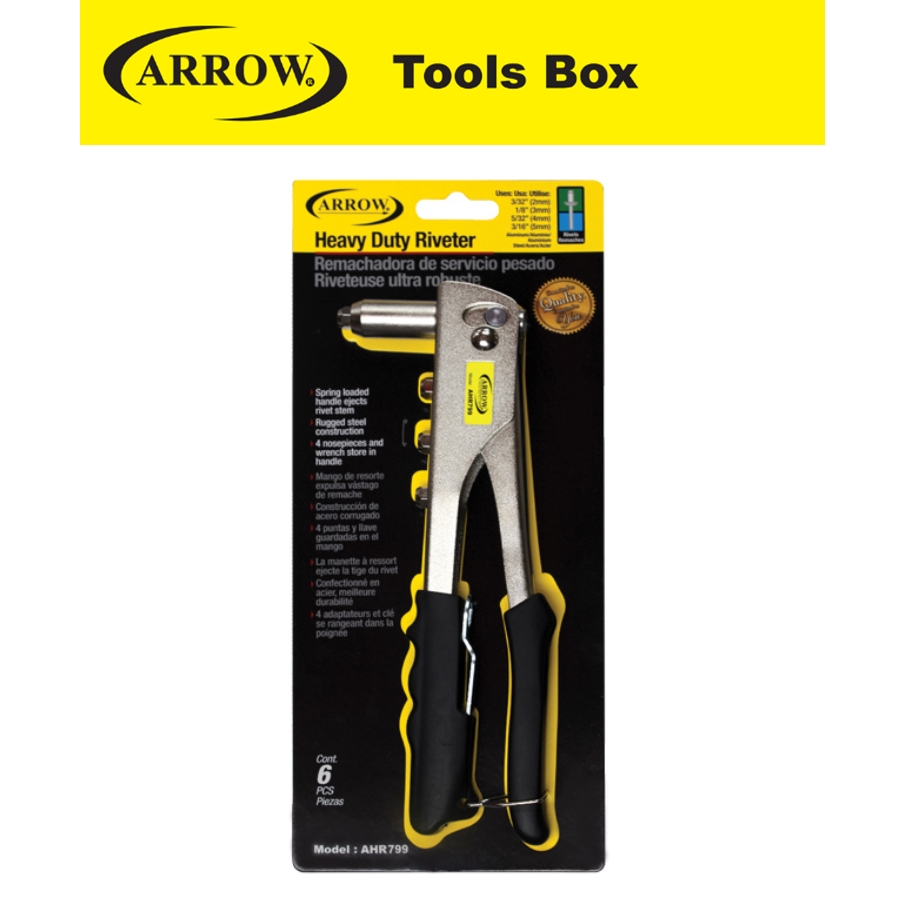 ARROW AHR 799 4 SIZE HEAVY DUTY HAND RIVETER MADE IN TAIWAN EASY USE SAFETY GOOD QUALITY