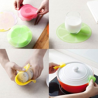1pc Cartoon Food-grade Silicone Multifunction Plastic Wrap Cover Bowl  Transparent Sealable Cover