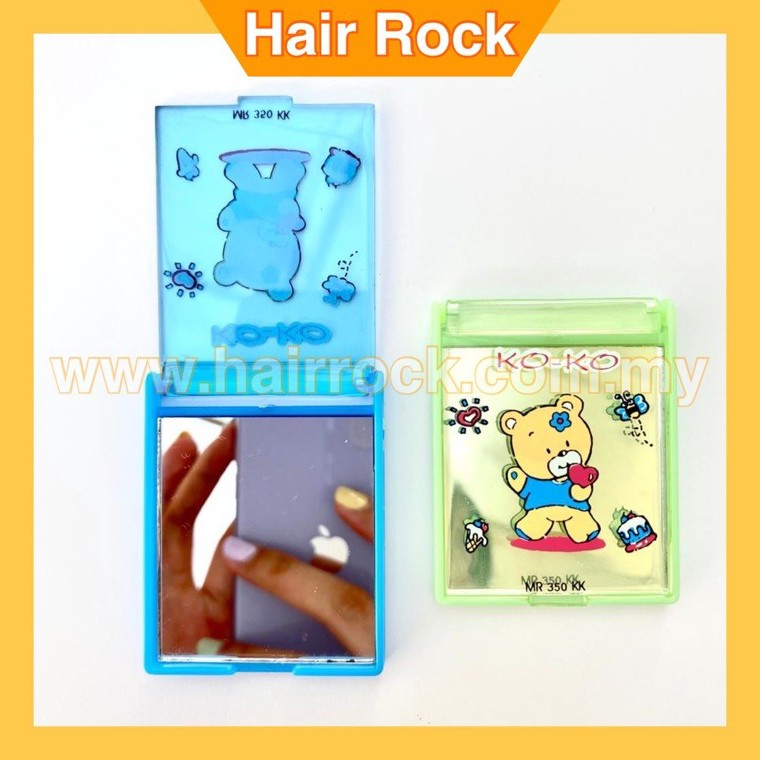 Pocket Size 1 Side Rectangular Plastic Makeup Mirror / Small Cosmetic Mirror