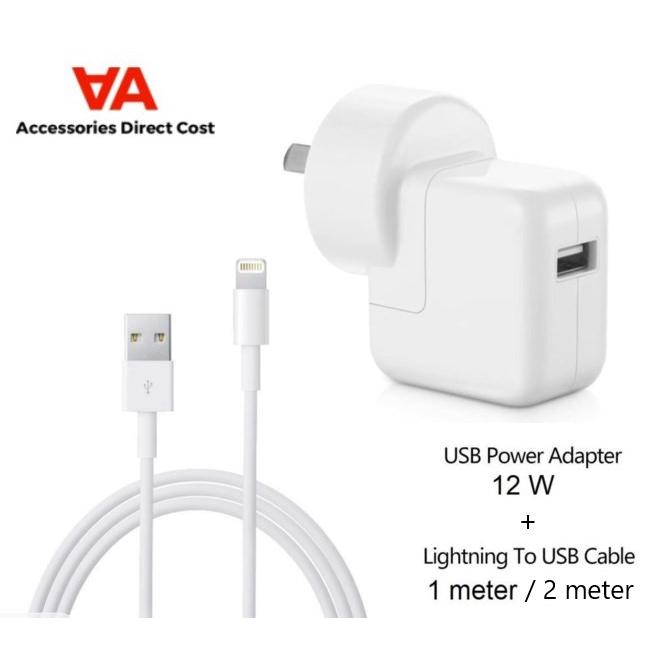 Original iPhone iPad Charger 12W USB Power Adapter