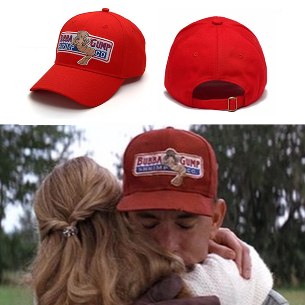 SUNYOO--Bubba Gump Shrimp Hat Embroidered Snapback Cap Basebal