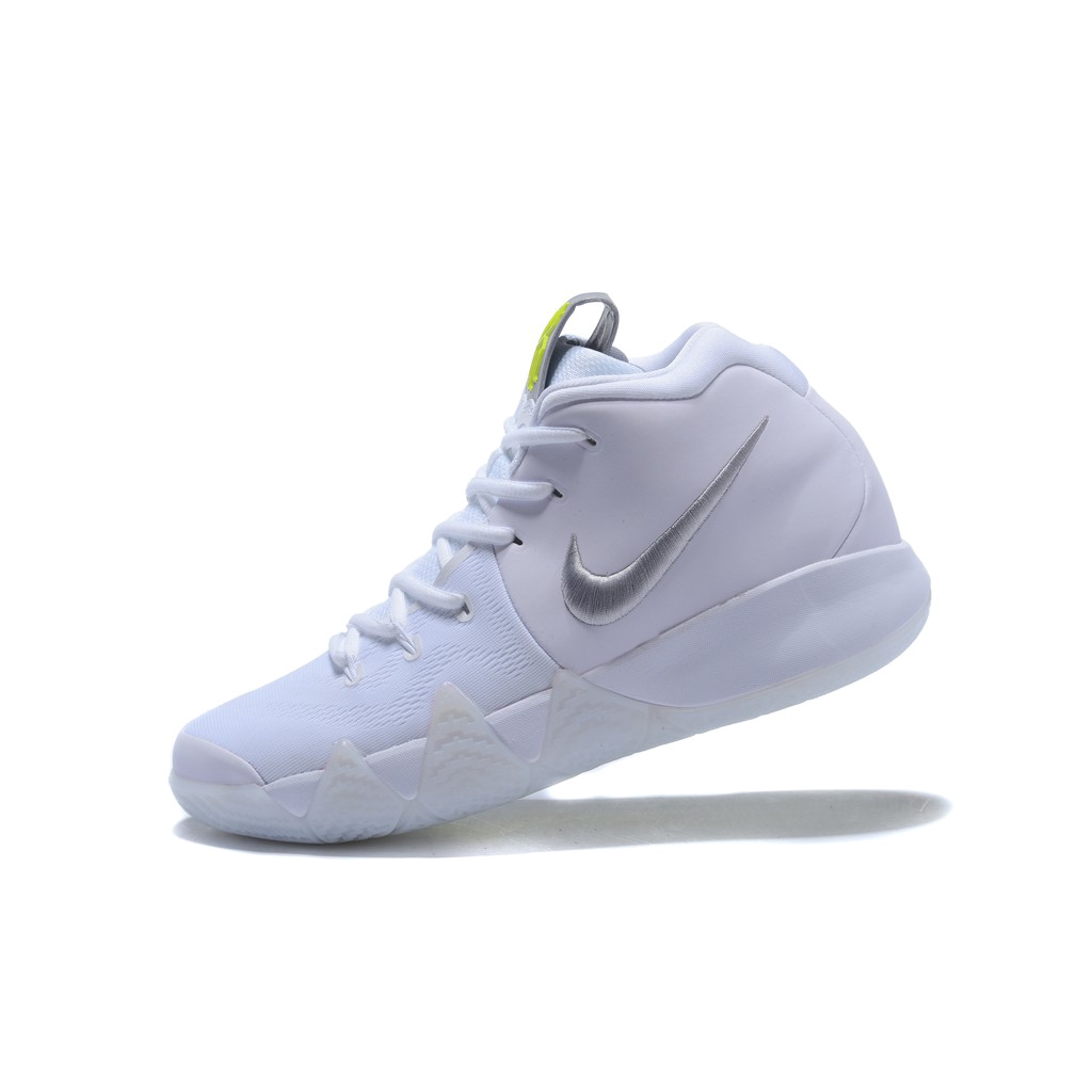 newest dabf0 4f8ff Nike Kyrie Irving 4 Basketball Shoes For Mens White/Silver