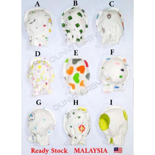 Babyco Newborn Boy Girl Soft Cotton Infant Handguard Anti Scratch Mittens Gloves