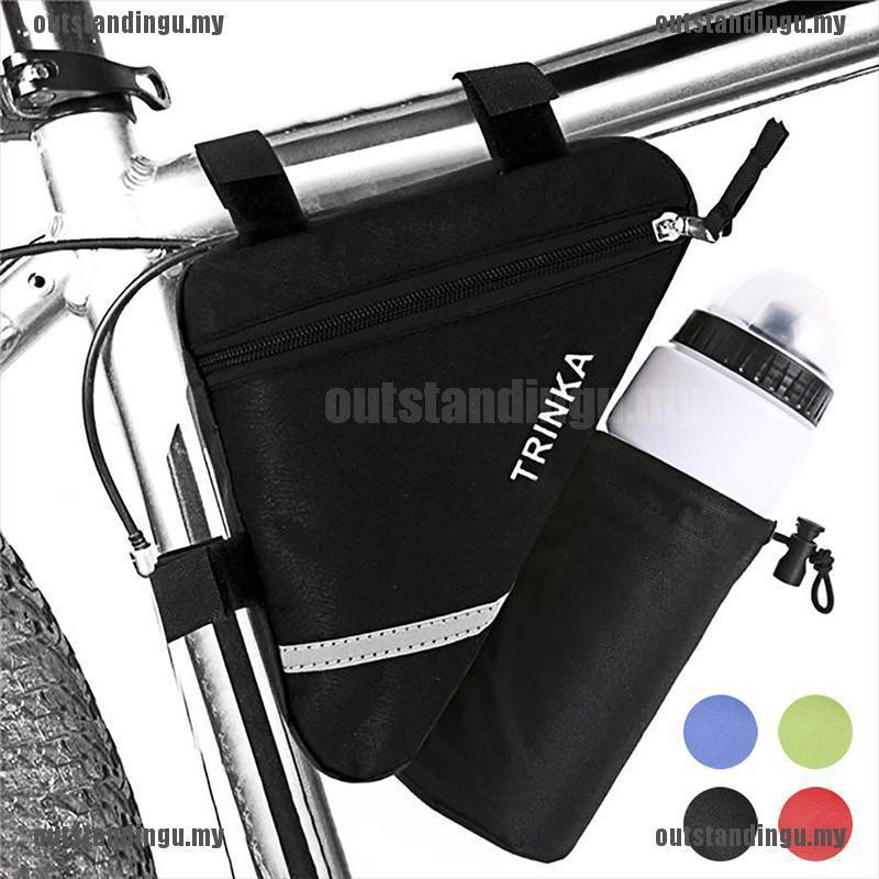 Bicycle Triangle Frame Bag Tube Pouch Bike Bags Saddle Frames Strap-On Pouches