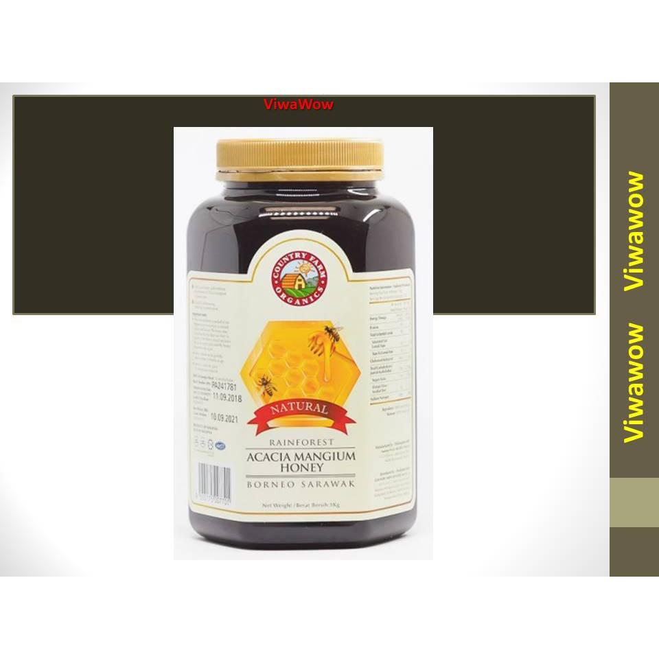 Country Farm Natural Rainforest Acacia Honey (1KG)