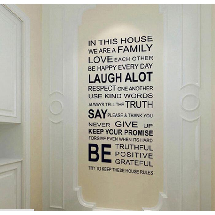 English Letter Office Bedroom Living Room Wall Stickers