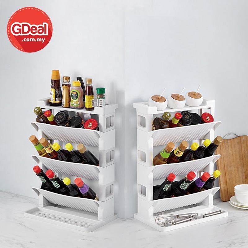 GDeal Kitchen Three Layer Creative Seasoning Rack Spice Organizer Rak Dapur رق داڤور