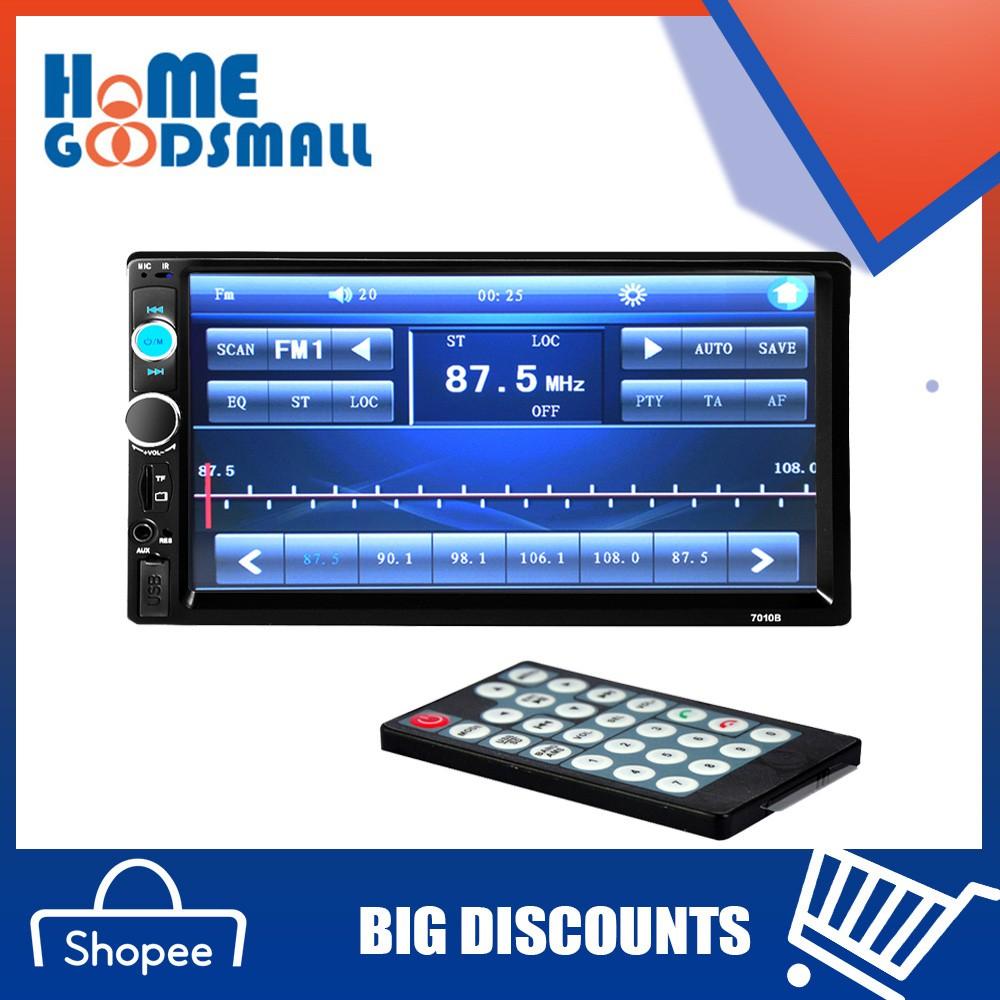HOM! Car Radio 7''HD Bluetooth Car Stero Radio 2 DIN FM/MP5/USB/AUX/Touch  Screen