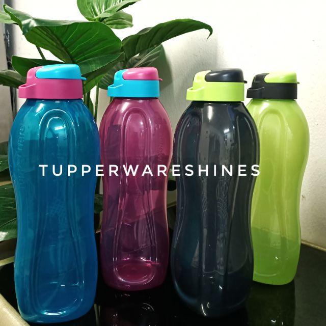 Tupperware Eco Bottle 1.5L (1) / Black Pouch (1) / Black Strap (1) / Bottle Brush (1)