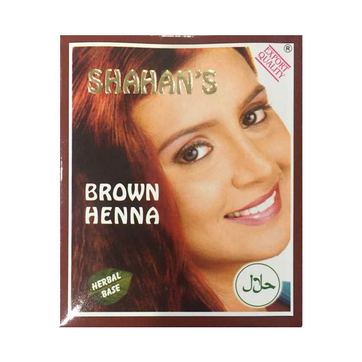 Shahan\'s Brown Henna / Black Henna (Inai) Hair Color 6x10g