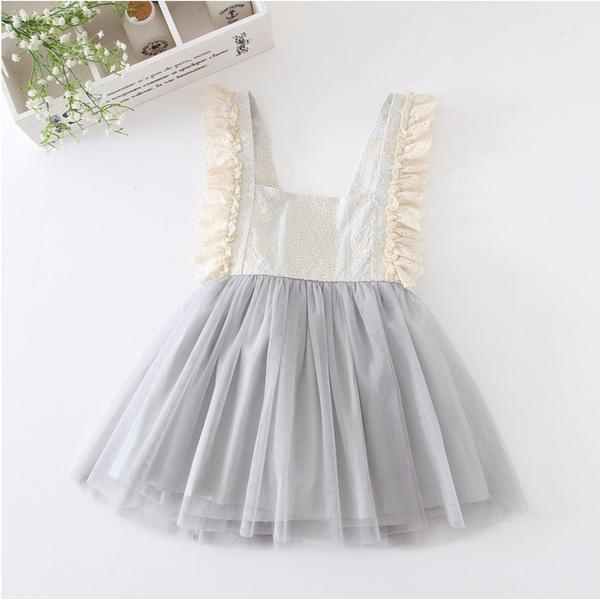 fa8db7ecef45 Flower Kids Baby Girls Princess Party Wedding Pageant Lace Dress ...