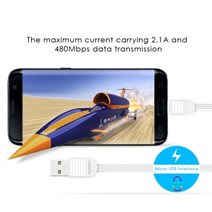 Original/Genuine Remax Puff 2.1A Micro USB Charging Data Cable For Android Phone