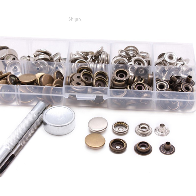 Shiyin✨New 17mm Heavy Duty Poppers Snap Fasteners Press Stud Sewing For  Leather Craft