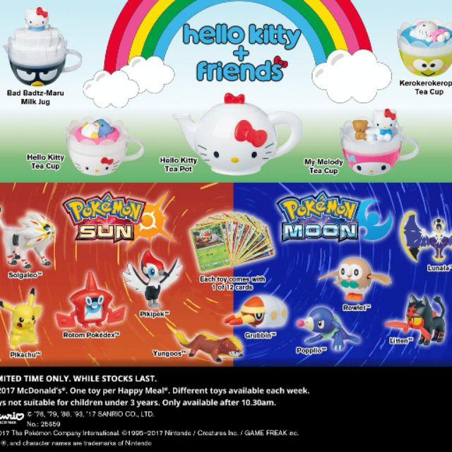 Pokemon, Pikachu & Hello Kitty Mcdonald's Mcdonalds Mcdonald Mcd Happy Meal  Toys