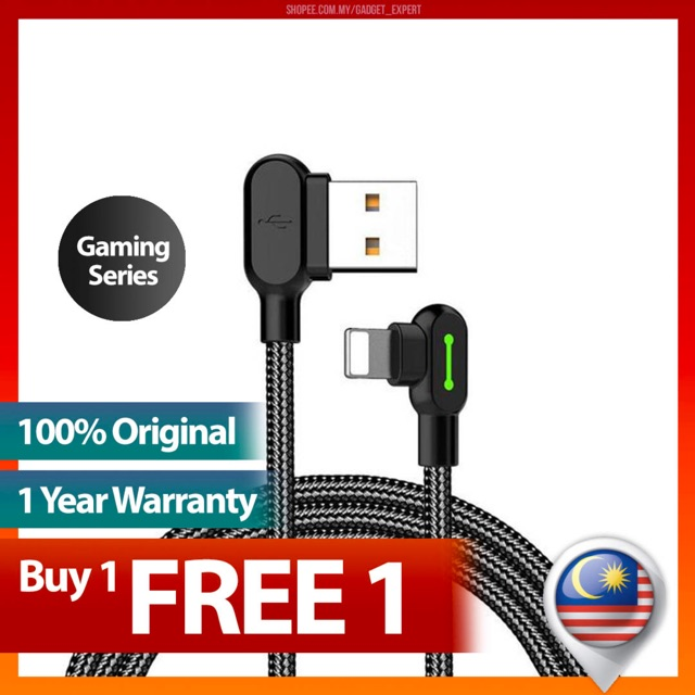 (1 Year Warranty) Mcdodo Apple IPhone Lightning Gaming LED Cable 1 2M -  (4671)