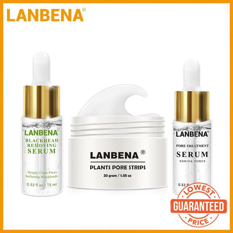LANBENA Plants Blackhead Remover Mask + Pore Strip Essence Black Mask Peel  Off Mask Peeling Acne Treatment Nose Mask