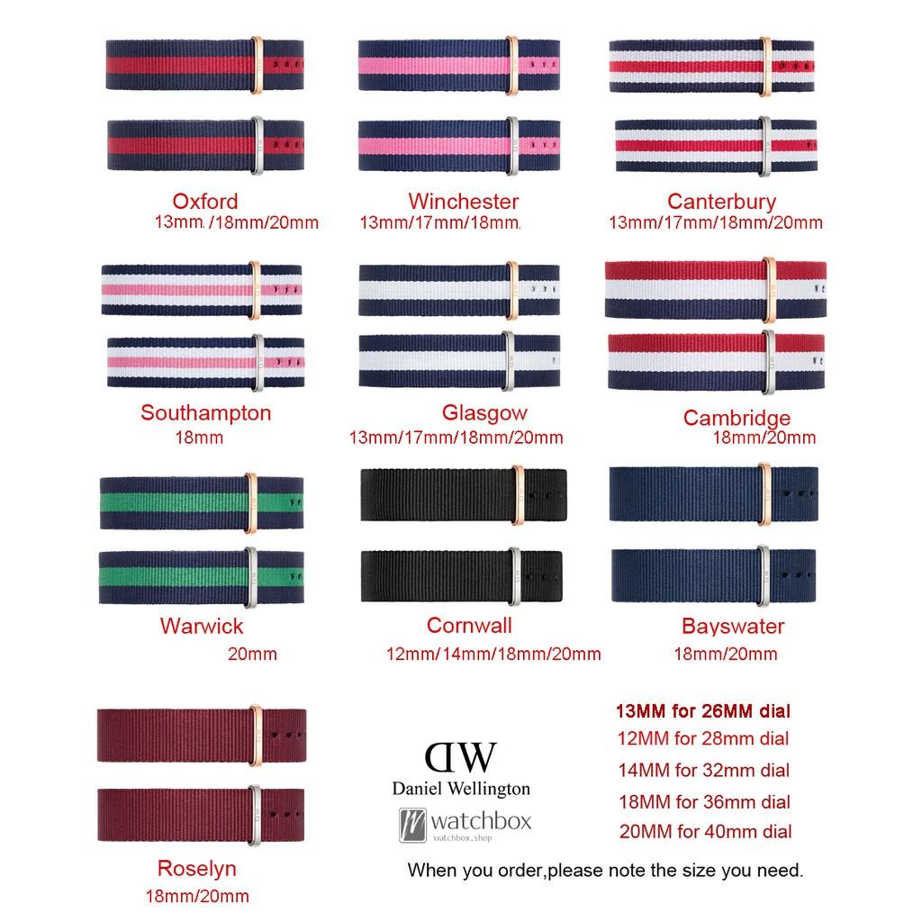 Original Daniel Wellington DW Nylon Nato Strap 12MM/14MM/18MM/20MM | Shopee Malaysia