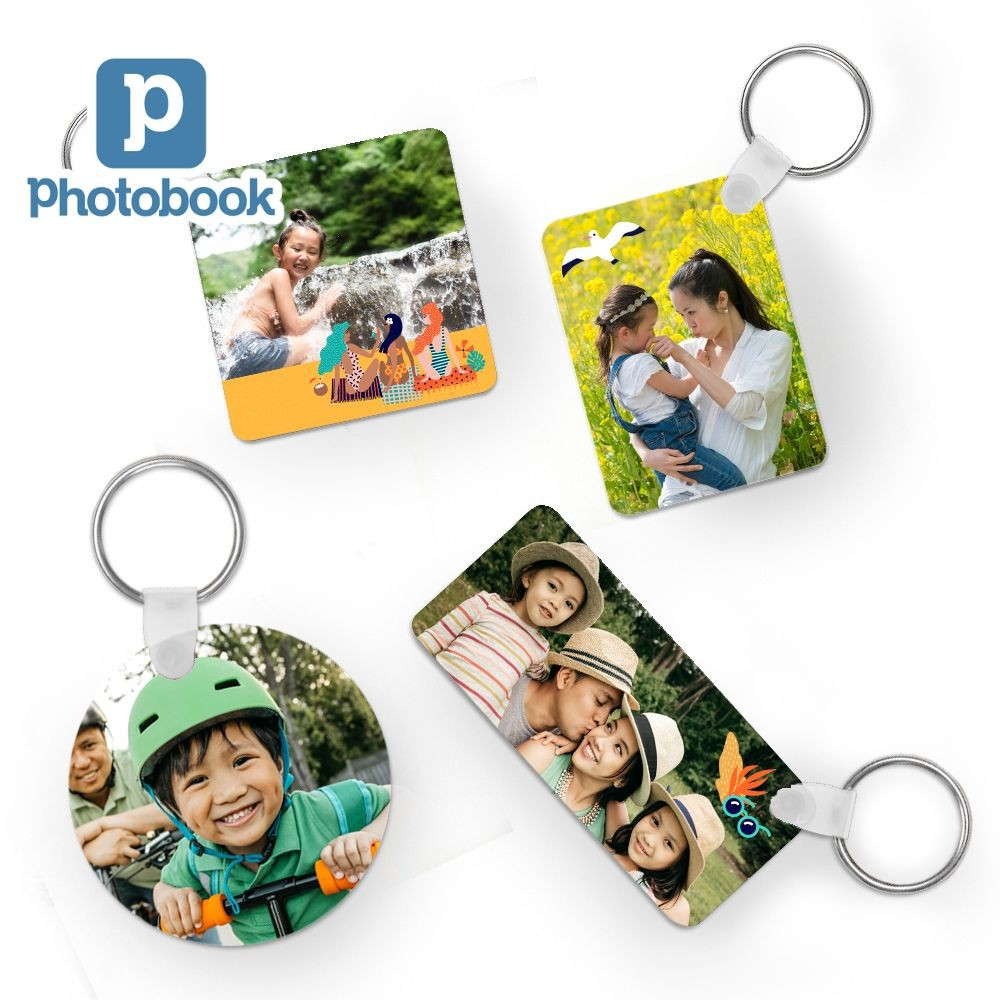 Photobook x1 Personalised Key Chain (Square, Circle, Rectangle, Long Rectangle)
