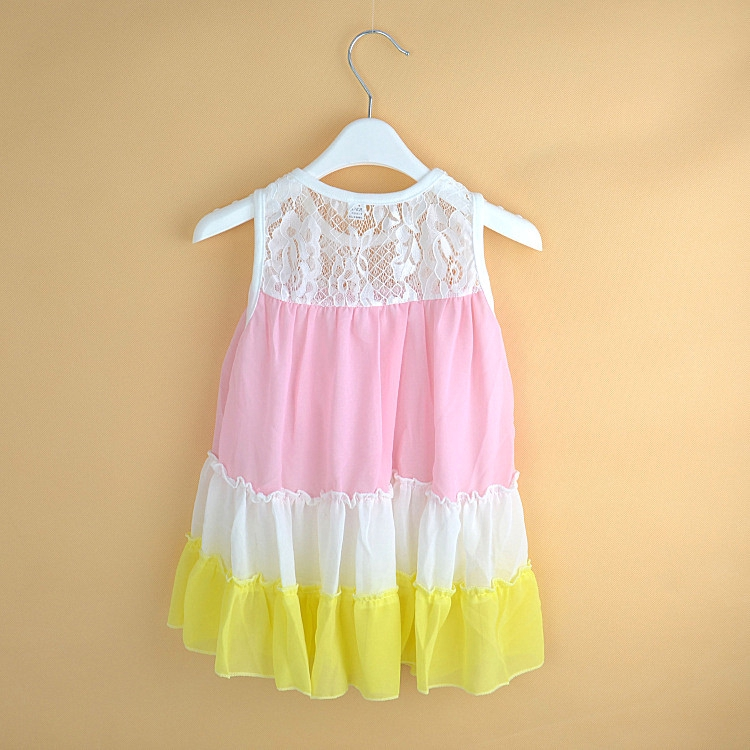 Baby Girl Cute Rabbit Harness Dress Sleeveless Mini Dress Age 1-6 Year