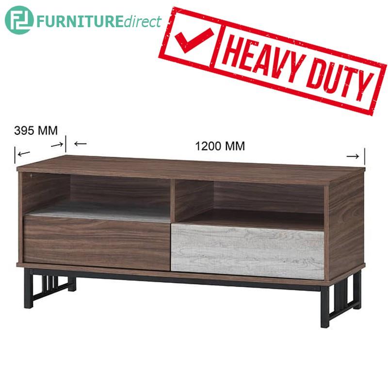 VERA 4 Feet heavy duty metal frame TV cabinet/ rak tv/ rak tv kayu